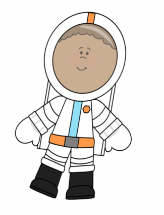 Cartoon of young astronaut