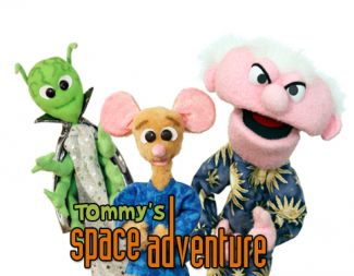 photo of puppets from Tommy's Space Adventure