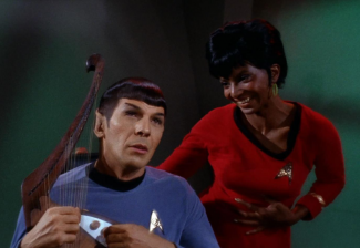 photo of Star Trek's Spock and Uhura