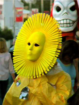 Sun costume photo on parade