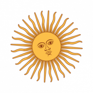 graphic of Sun Disc with face