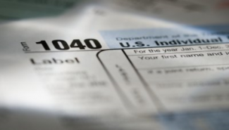image of a 1040 tax form