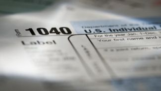 image of tax form