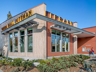 Exterior photo of the Tarea Hall Pittman South Branch