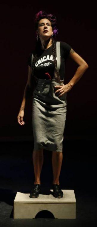 Vanessa Sanchez standing on a platform
