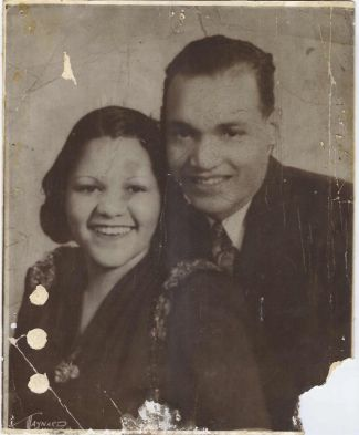 Black and white photo of Tina Jones Williams parents