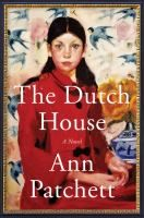 cover of book The Dutch House, a novel by Ann Patchett, oil painting of woman wearing a red coat