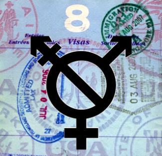 Trans Rights Passport Stamp