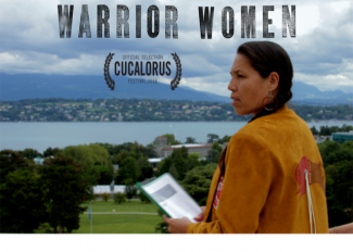 Warrior Women film poster with Official Selection of the Cucalorus Festival 2018 information displayed