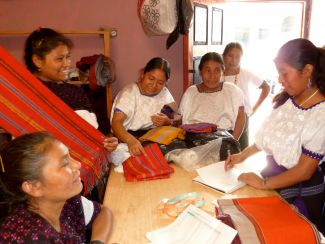 The cooperative board and weavers of Pantelhó, Chiapas