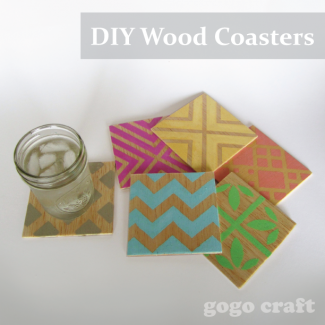 wood coasters by GoGo Crafts
