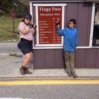 Zeke and a friend at the Tioga Pass