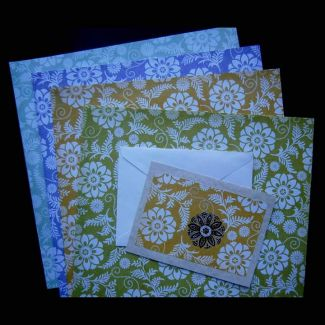 Scrapbook paper and a card featuring a zentangle drawn page
