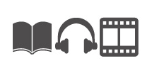 books, headset, film