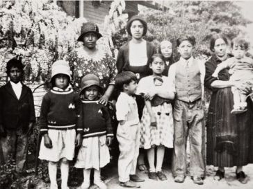 portrait of hispanic women and children