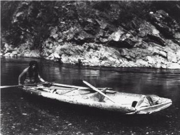 "Man in boat from: Benson, Sonia, et al. ""Native North Americans of California."" UXL Encyclopedia of U.S. History"