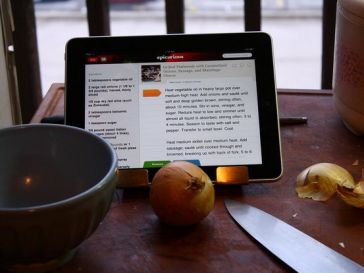 iPad in kitchen.  image CC2.0 https://www.flickr.com/photos/lexnger/4596784697