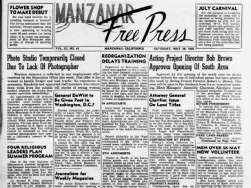 Manzinar Free Press newspaper