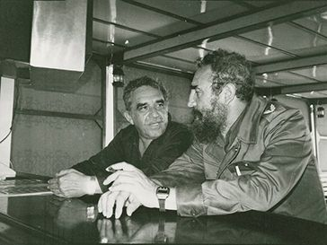 Gabriel García Márquez with Fidel Castro (Image from Harry Ransom Center)