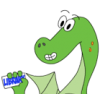 dragon with library card