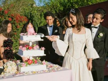 Quinceanera celebrtion cake ceremony