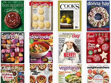 Popular food and cooking magazines