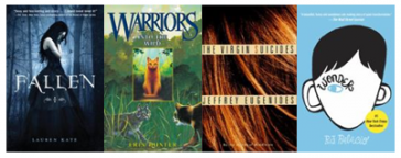 Covers of books recommended by teens