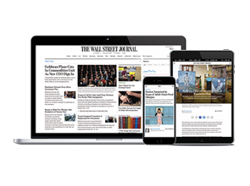 Wall Street Journal on laptop, tablet and mobile devices