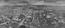 Panoramic photograph of Berkeley in 1908
