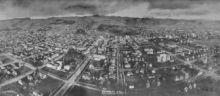 Panoramic photograph of Berkeley in 1908