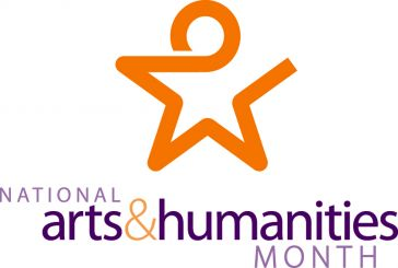 "Star graphic with text ""National Arts&Humanities Month"""